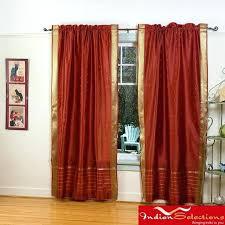 burnt orange colored curtains rust colored window treatments rust colored shower curtains rust sheer sari 84