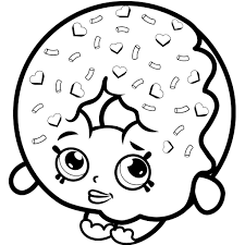 Coloring Pages Freetable Shopkins Coloring Pages Donut Freedonut