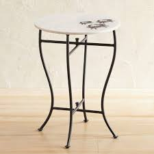 crab inlay marble accent table pier 1
