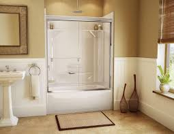 soaking tub shower combination replace bathroom countertop contemporary small wall mounted cast iron sink