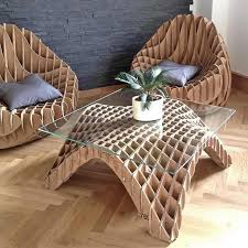 Cardboard furniture is a furniture designed to be made from corrugated  fiberboard, heavy paperboard,