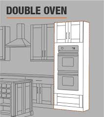 double oven kitchen cabinet