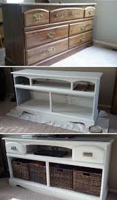 tv stand makeover turn an old wooden dresser into this gorgeous tv stand with some