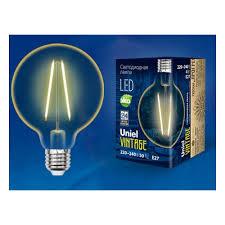 Светодиодная <b>лампа Uniel LED-G80-4W/GOLDEN/E27</b> GLV21GO ...