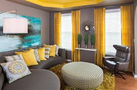 gray and yellow living rooms photos