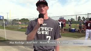 Max Rutledge - RHP/MIF - Mount Vernon, TX - 2020 - YouTube