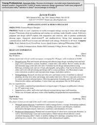Sample Resume For A Young Professional Dummies