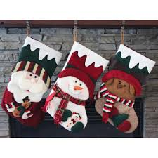 christmas stocking set. Delighful Christmas Plush 3D Style Holiday Christmas Stocking Set  QY36274ABC  And