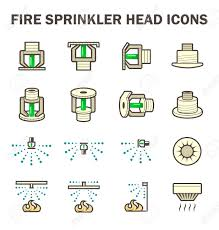 Water Sprinkler System Design Vector Icon Design Of Fire Sprinkler System Include Fire Sprinkler