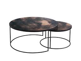 coffee table contemporary nesting coffee table round view larger