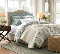 pottery barn master bedroom decor. Chic Bed With Beige Headboard By Pottery Barn Teens On Wooden Floor Rug For Bedroom Master Decor