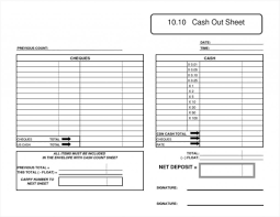 Printable Cash Drawer Balance Sheet Cash Drawer Tally Sheet Template Balance Monthly Infovianet Chest