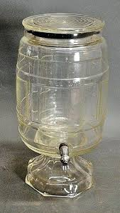 glass drink dispenser and drinks beverage with stand spigot