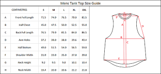Tank Top Size Chart Men Sizing Guide Anarchy Lift Wear