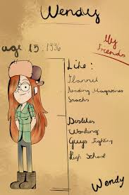 Gravity Falls:My book:wendy page by xxgumihocherryxx on DeviantArt
