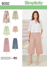 Culottes Pattern New SIMPLICITY SEWING PATTERN MISSES' SKIRT PANTS CULOTTES SHORTS SIZE 48