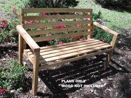 diy plans to make patio bench outdoor