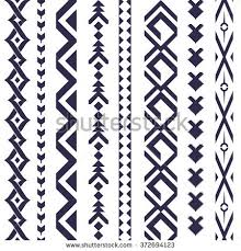 navajo tattoo designs. Tribal Tattoo Vector Pattern For Textile Design. Vertical Ornaments In Aztec And Navajo Style. Designs A