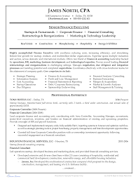 Free Financial Consultant Resume Example Templates At
