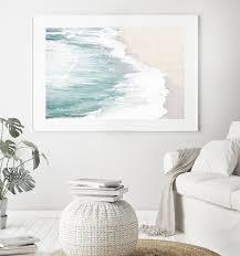 aerial beach photography ocean print