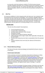 internet marketing plan excerpt internet marketing strategy internet marketing plan excerpt