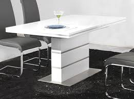 heartlands dolores dining table in high gloss white  blue ocean