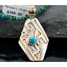 sterling silver and 12kt gold filled handmade certified authentic navajo turquoise native american necklace