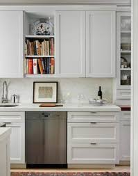 modern cabinet pulls white shaker. Contemporary Kitchen With Limestone Tile Floors, Simple Marble Counters, Glass Panel, Undermount Sink, One-wall Modern Cabinet Pulls White Shaker S