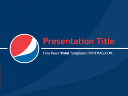 Blue Powerpoint Theme Free Pepsi Cola Powerpoint Template Pptmag