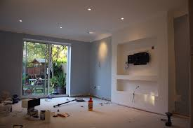 build false chimney for recessed tv and other works how to build faux fireplace how to