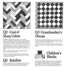 "Freedom Quilting Bee Brochure | World Quilts: The American Story & This is a page from a 1980s brochure for the Freedom Quilting Bee including  the ""Coat of Many Colors"" pattern seen in the previous slide. Adamdwight.com"