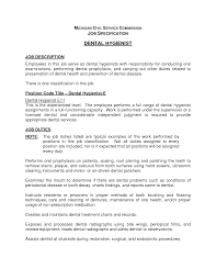 Amusing Hygienist Resume Description About Dental Hygienist Job