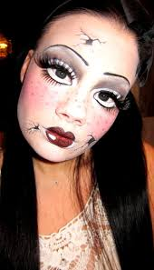broken doll makeup no tutorial but thru for more photos