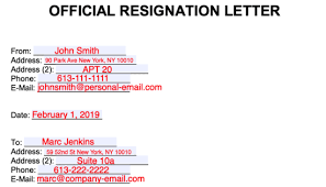 Free Resignation Letter Templates Samples And Examples Pdf