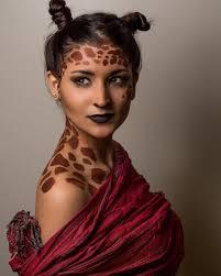 cute giraffe print makeup