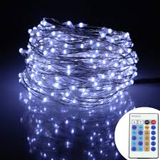 Warm White Led String Lights White Wire 49ft 15m 300leds Silver Wire Warm White Led String Lights
