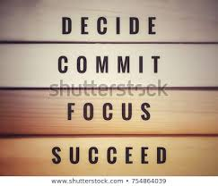 Motivational And Inspirational Quotes Awesome Motivational Inspirational Quotes Decide Commit Focus Stock Photo