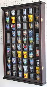 dearborn office display case. 56 shot glass display case holder cabinet rack door new dearborn office