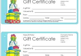 Gift Certificates Printable Online Template Maker For Word Page