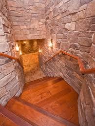 man cave rug staircase mediterranean with rock walls rock walls