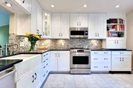 kitchen with black and white cabinets best of backsplash