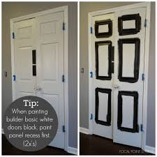 paint is not only an economical means of updating the look of a home on a small budget but using black paint on doors helps to give an updated and