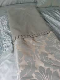 duck egg blue damask bedding including double duvet set valance sheet heavy throw and