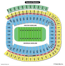 73 Correct Sanford Stadium Seating Map