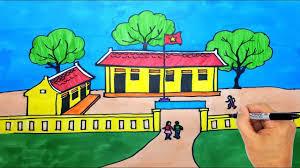 Vẽ Tranh Ngôi Trường Của Em - Vẽ Ngôi Trường - How To Draw My School and...  | Drawing, Mỹ thuật, Hình ảnh