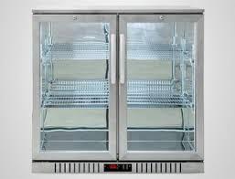 bar fridge with glass door for