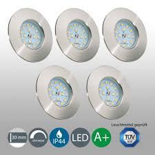 5 Led Einbaustrahler Bad Ip44 Dimmbar Einbauleuchte Lampe Decken