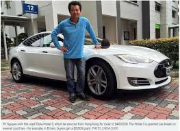 new car 2016 singaporeIf Only Singaporeans Stopped to Think Tesla electric car slapped