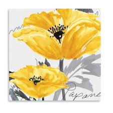 yellow poppy i canvas wall art on yellow bathroom wall art with buy yellow wall decorations from bed bath beyond
