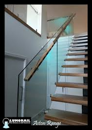 Our illuminated LED handrail 'The Aston' A Stainless Steel handrail with a  modular light